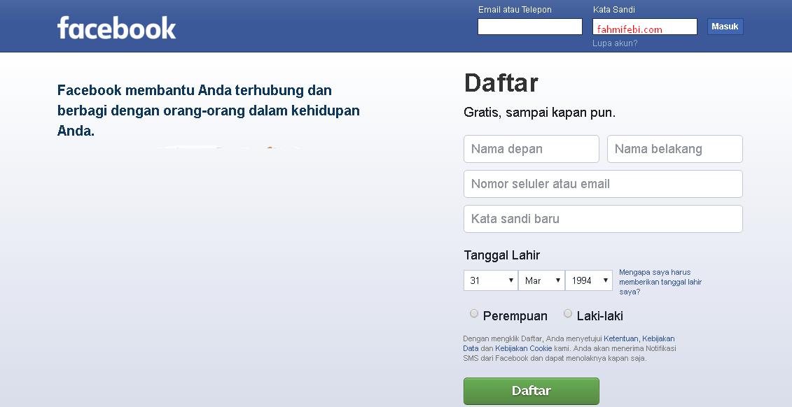 Cara Membuat Akun Facebook Untuk Pemula