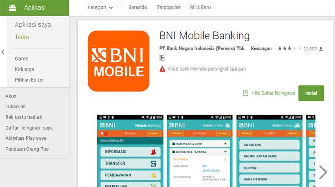 Download Aplikasi Mobile Banking BNI