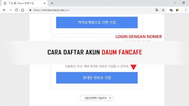 Cara Mendaftar Daum Fancafe, K-popers Wajib Tau!